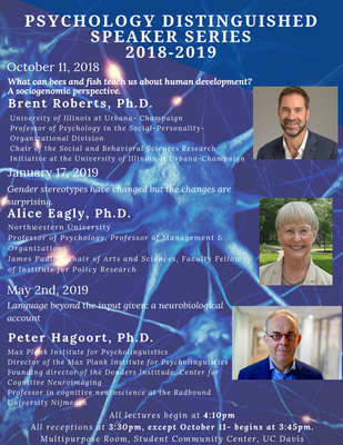 Flier for distinguished speakers series